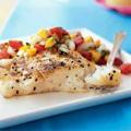 Ψητό φιλέτο ψαριού halibut με σάλτσα ανανά – κίτρου