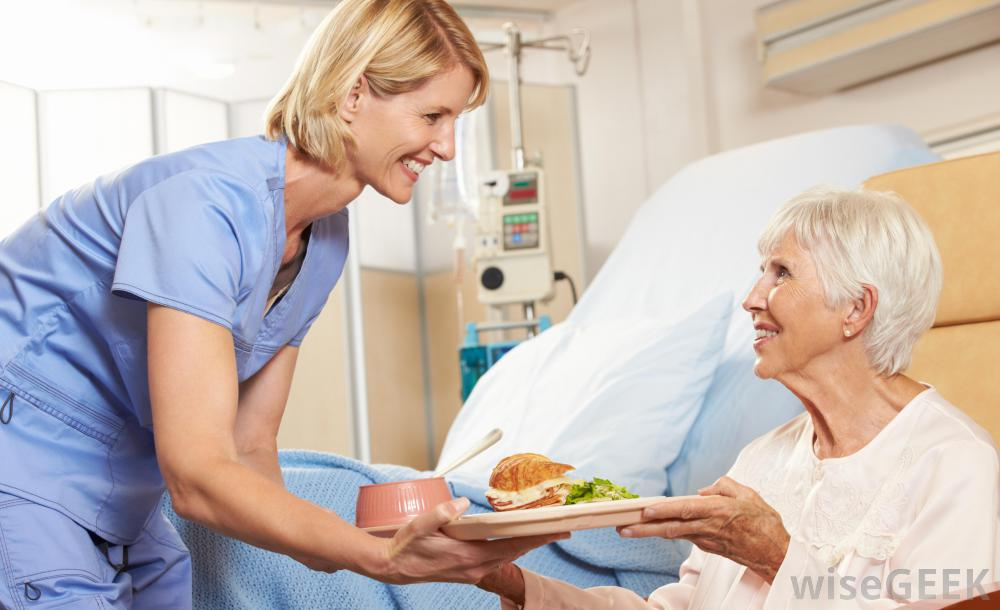 nurse-serving-patient-food